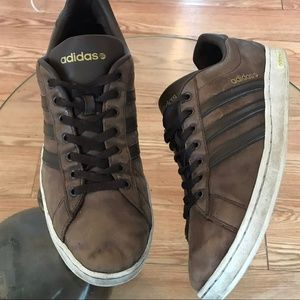 Adidas Distressed Leather  Sneakers Gym Shoes